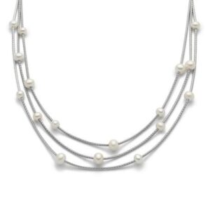 Miluna Collana CON perle e argento 925 pcl5626