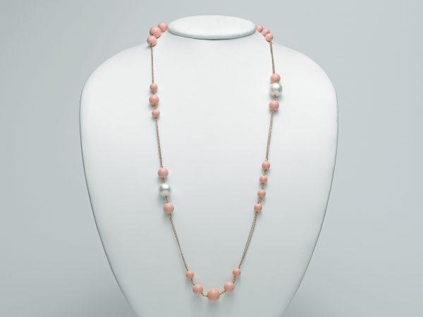 Miluna collana argento 925 rosè con perle PCL 5215M